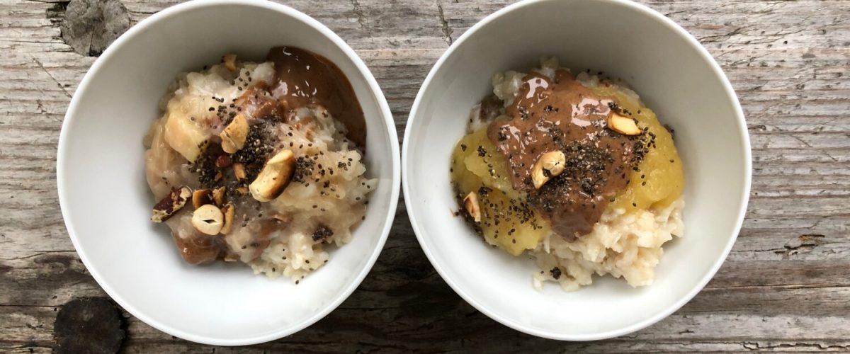 Schnelles Reis-Porridge